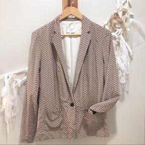 Joie Silk Printed Blazer   Size Large